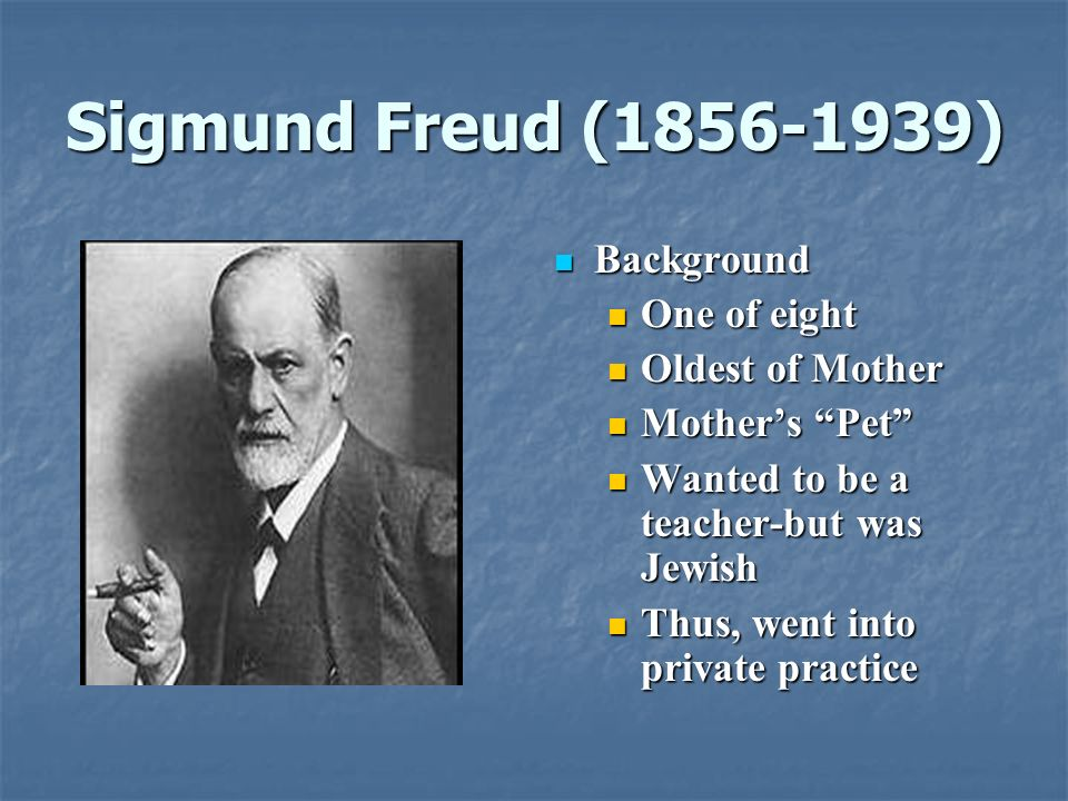 The concepts of psychology Sigmund Freud Background 960x720