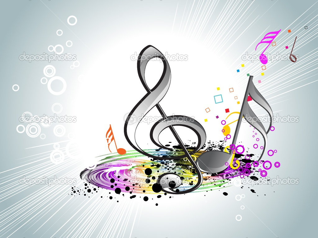 Music Note Designs Wallpaper Colorful Music Notes Wallpaper 1024x768