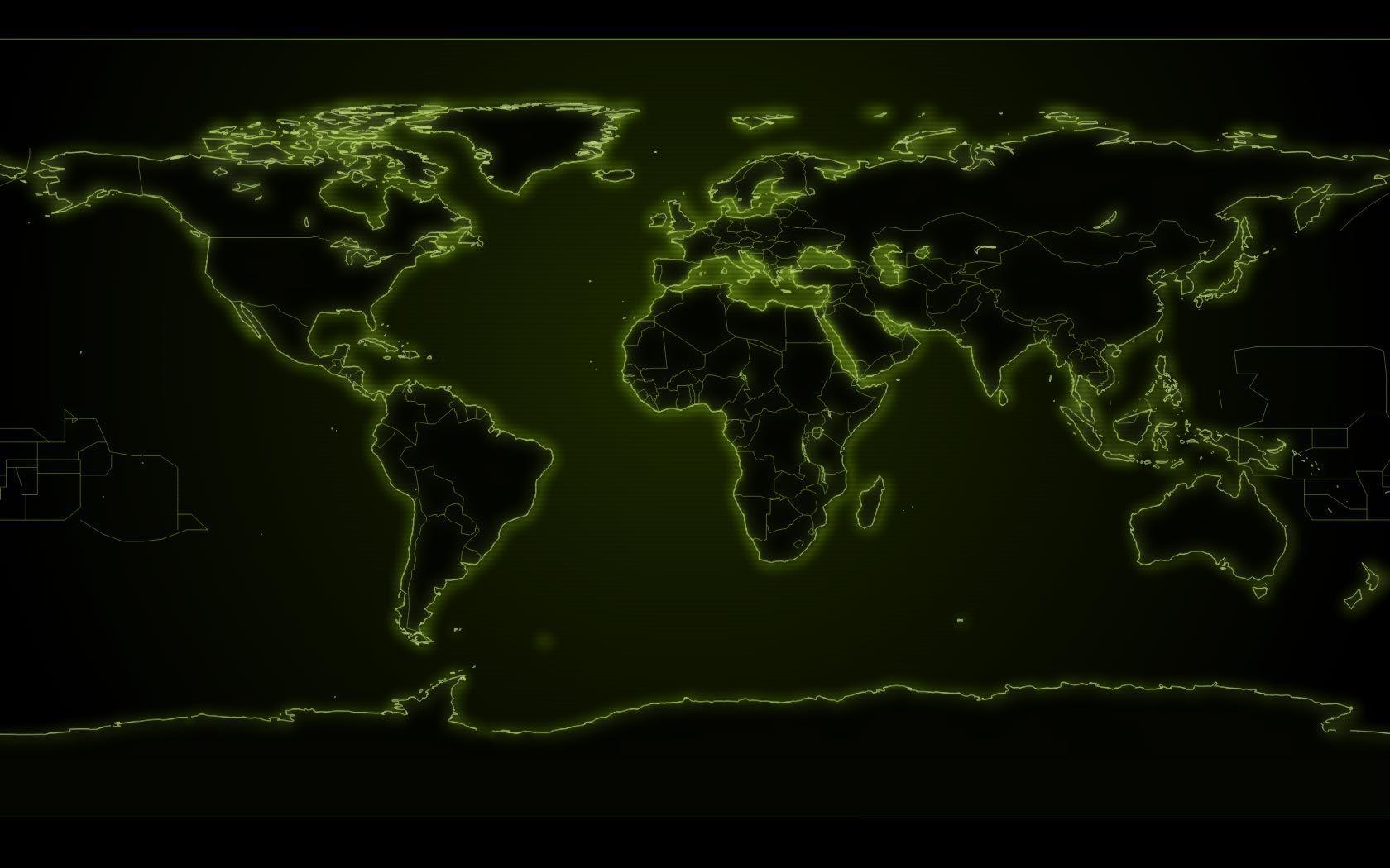Earth Map Wallpapers 1680x1050