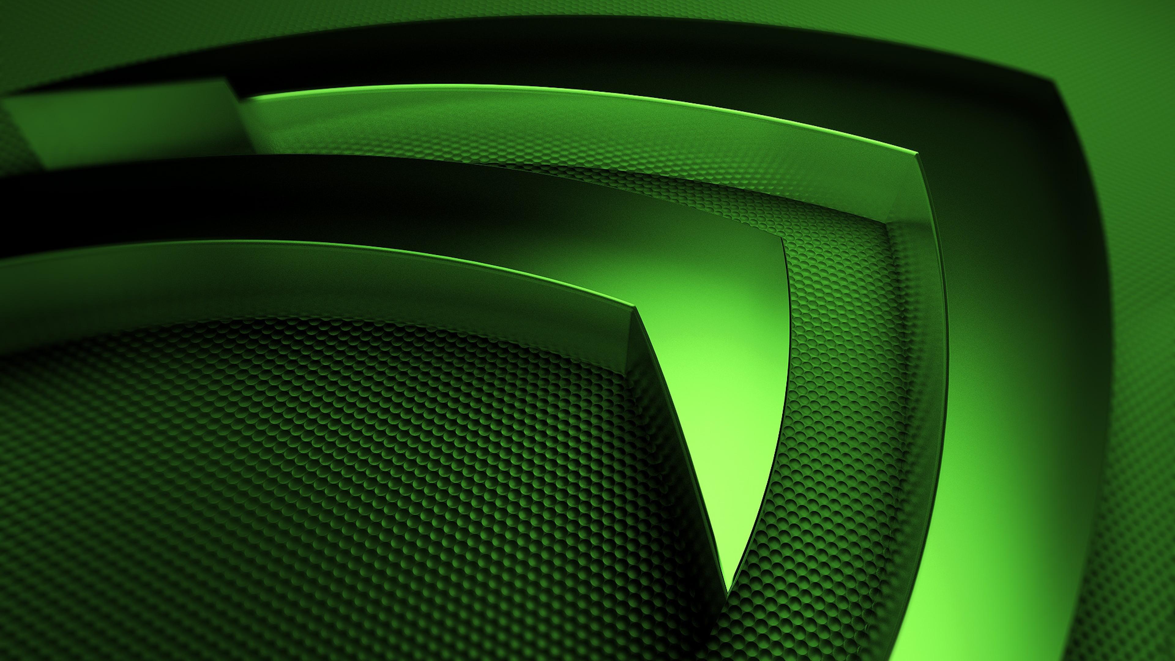 Wallpaper 3840x2160 nvidia green symbol 4K Ultra HD HD Background 3840x2160