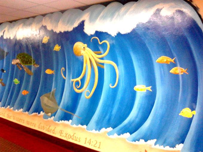 School Wall Murals Bunny Decoration 680x510