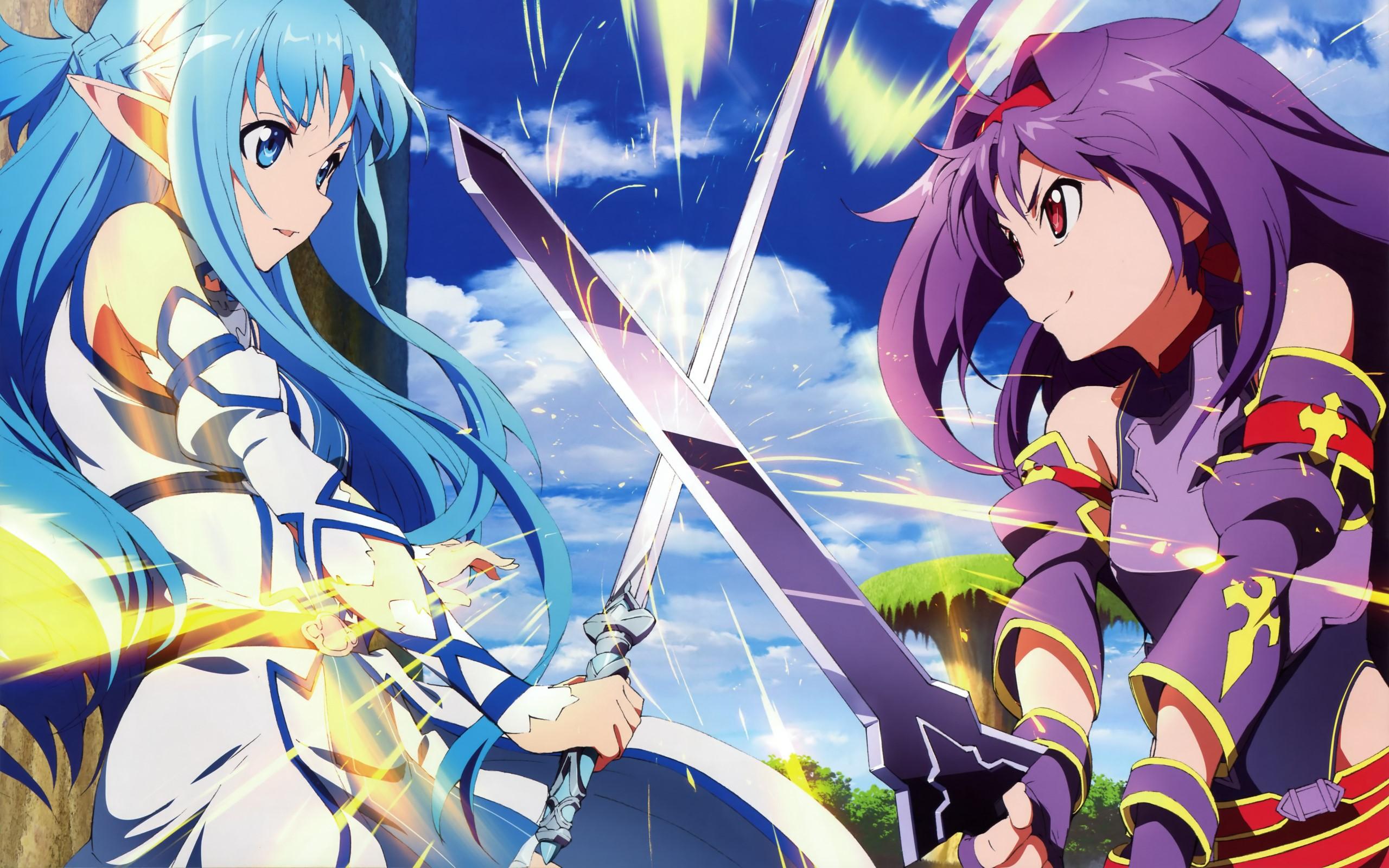 Sword Art Online Wallpaper Hd   Sword Art Online Asuna And Yuuki 2560x1600