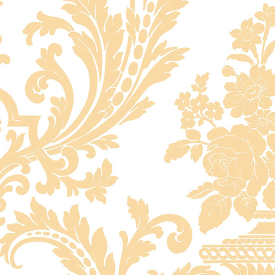 Traditional Damask Wallpaper Ochre 1 5 Bolts   This wallcovering is 550x550