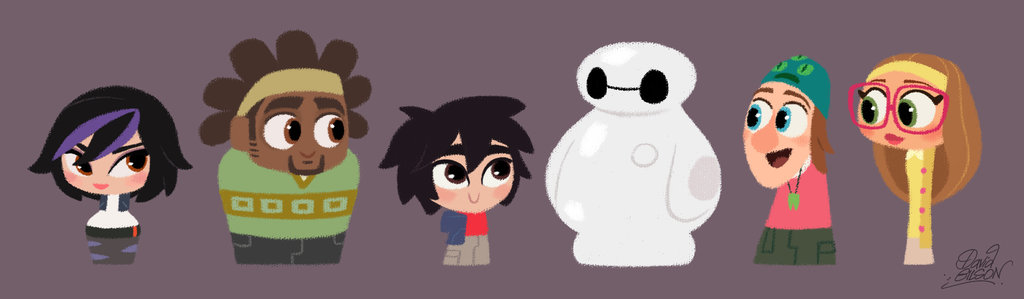 Disneys Big Hero 6 cute pawns by princekido 1024x299