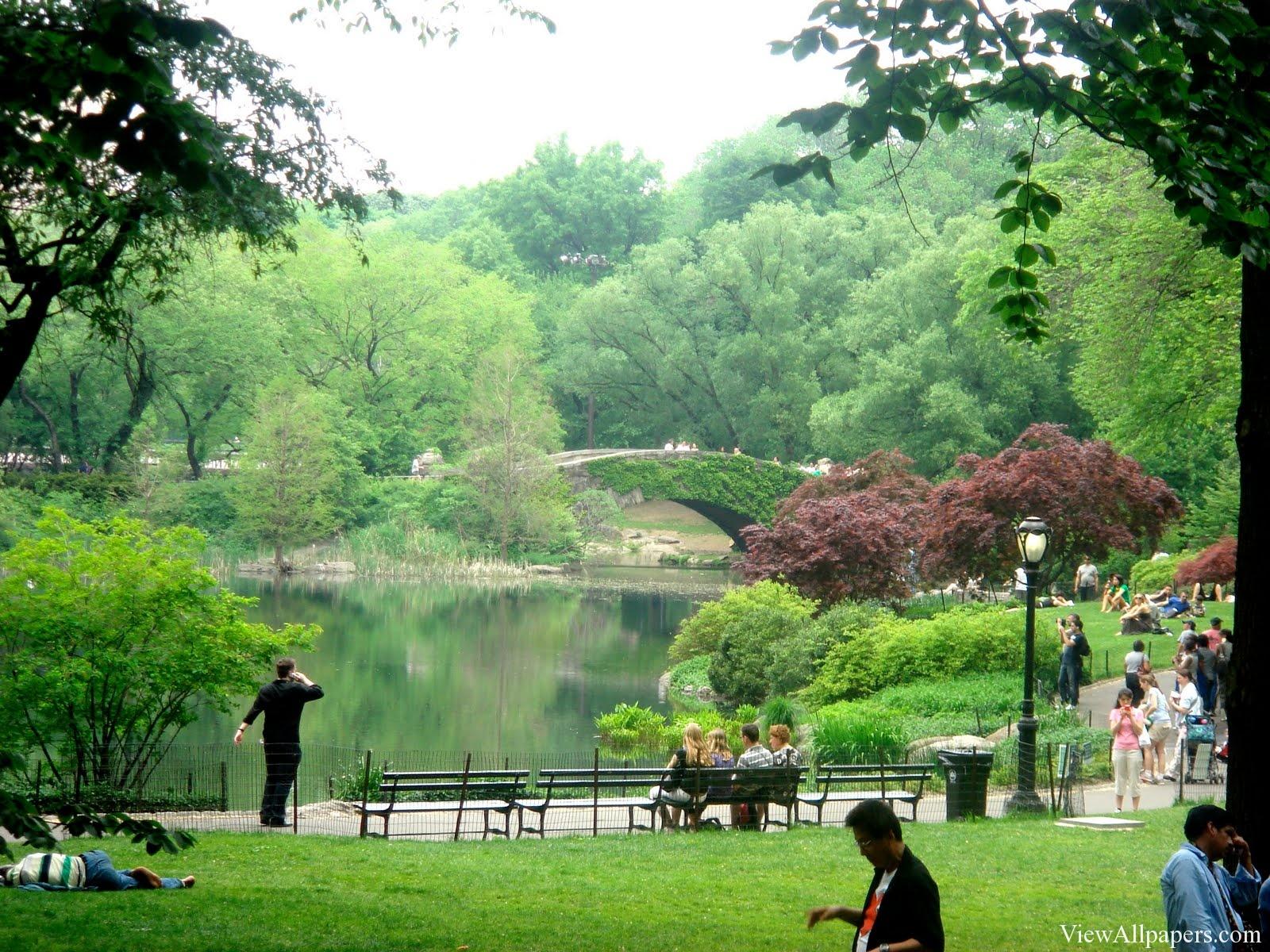 Park Summer Time High Resolution Wallpaper download Central Park 1600x1200