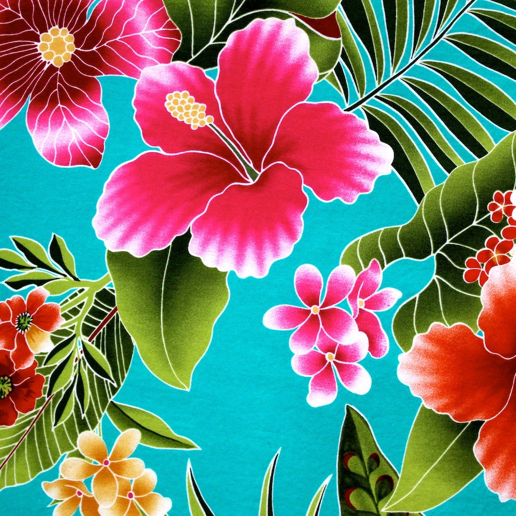 Free Download Bright Hawaiian Flowers Sew Moni Craft House By