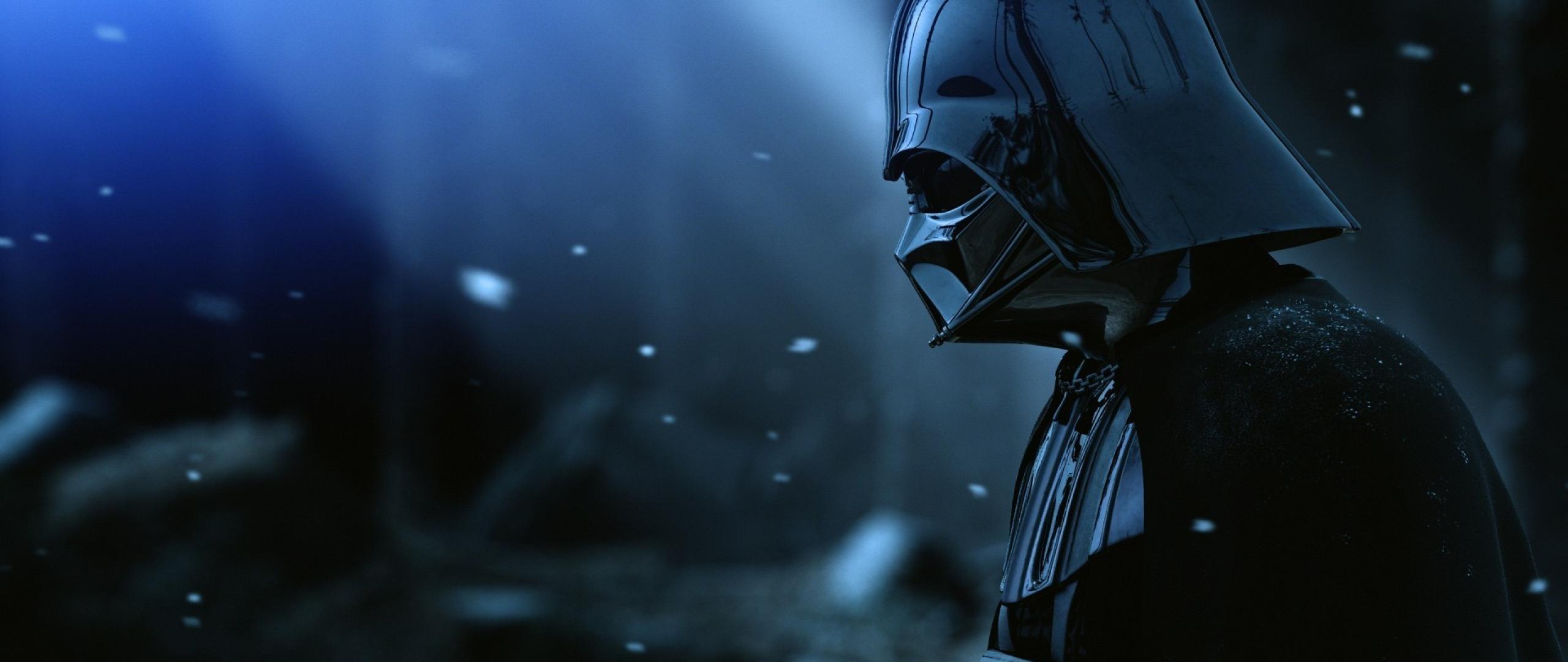 Vader Helmet Star Wars Film Black Snow Wallpaper WallpapersByte 2560x1080