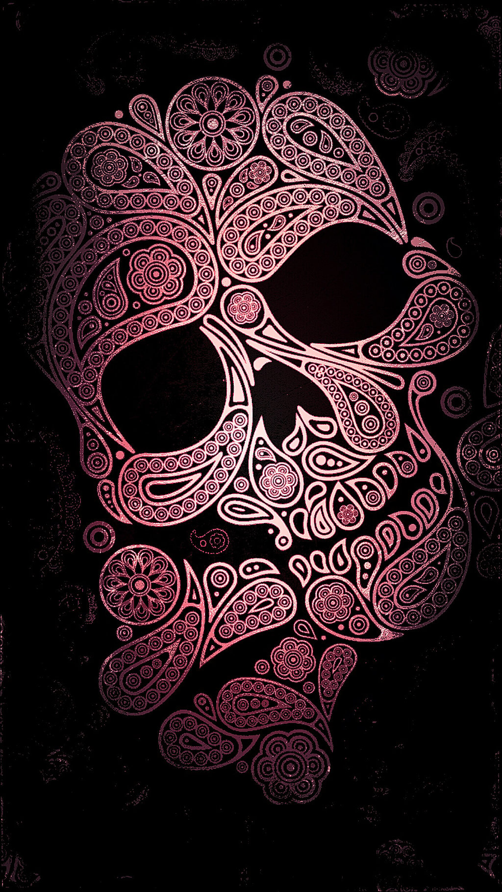 Free Download Pink And Black Skull Wallpaper 1024x1818 For Your