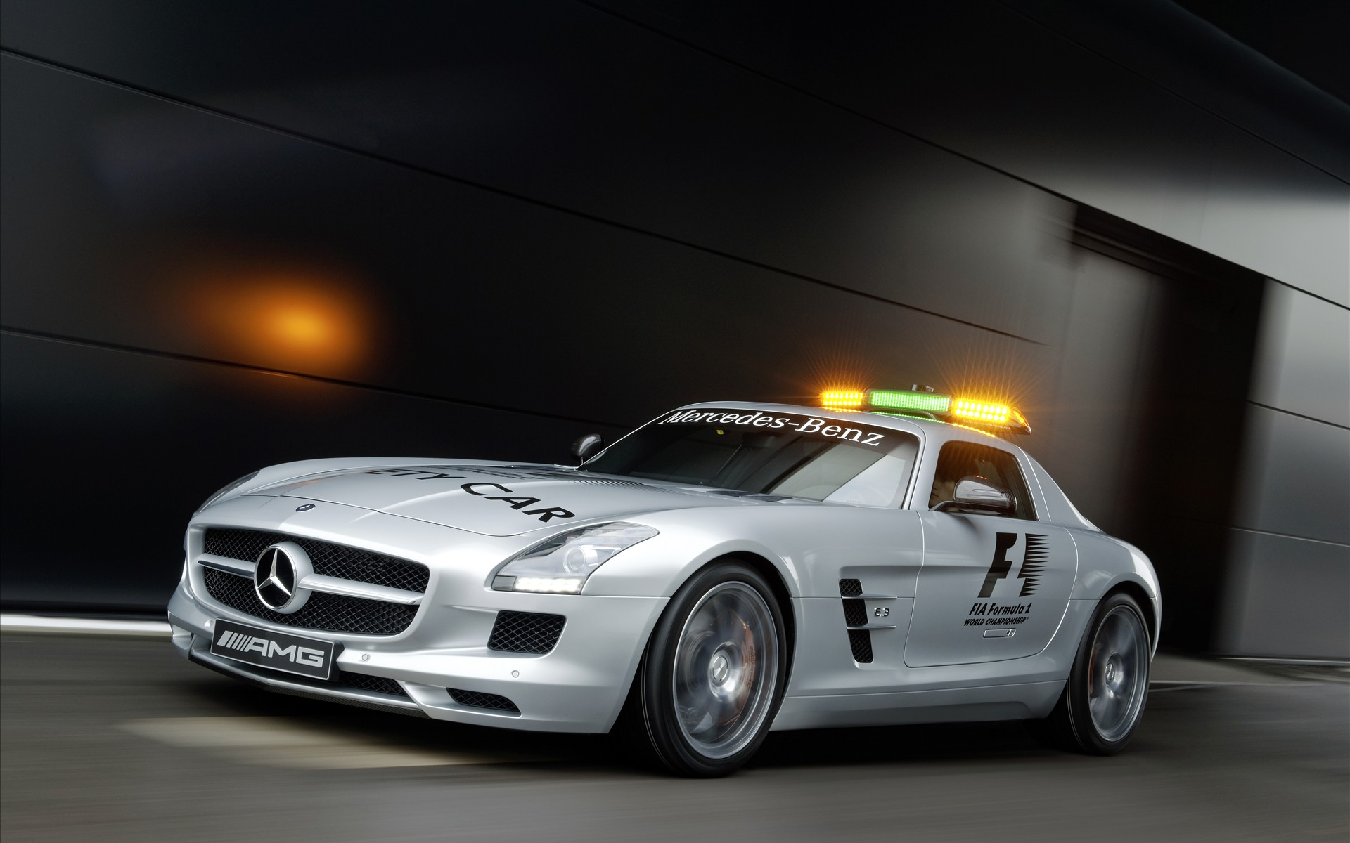 Mercedes Benz SLS AMG F1 Safety Car 2010 Wallpapers 1920x1200