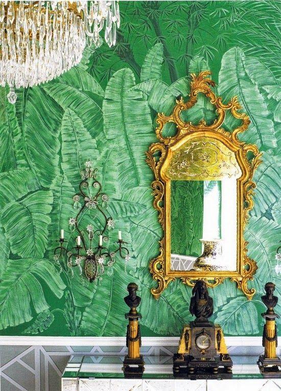 Martinique Banana Leaves Wallpaper LOVE this wallpaper 550x766