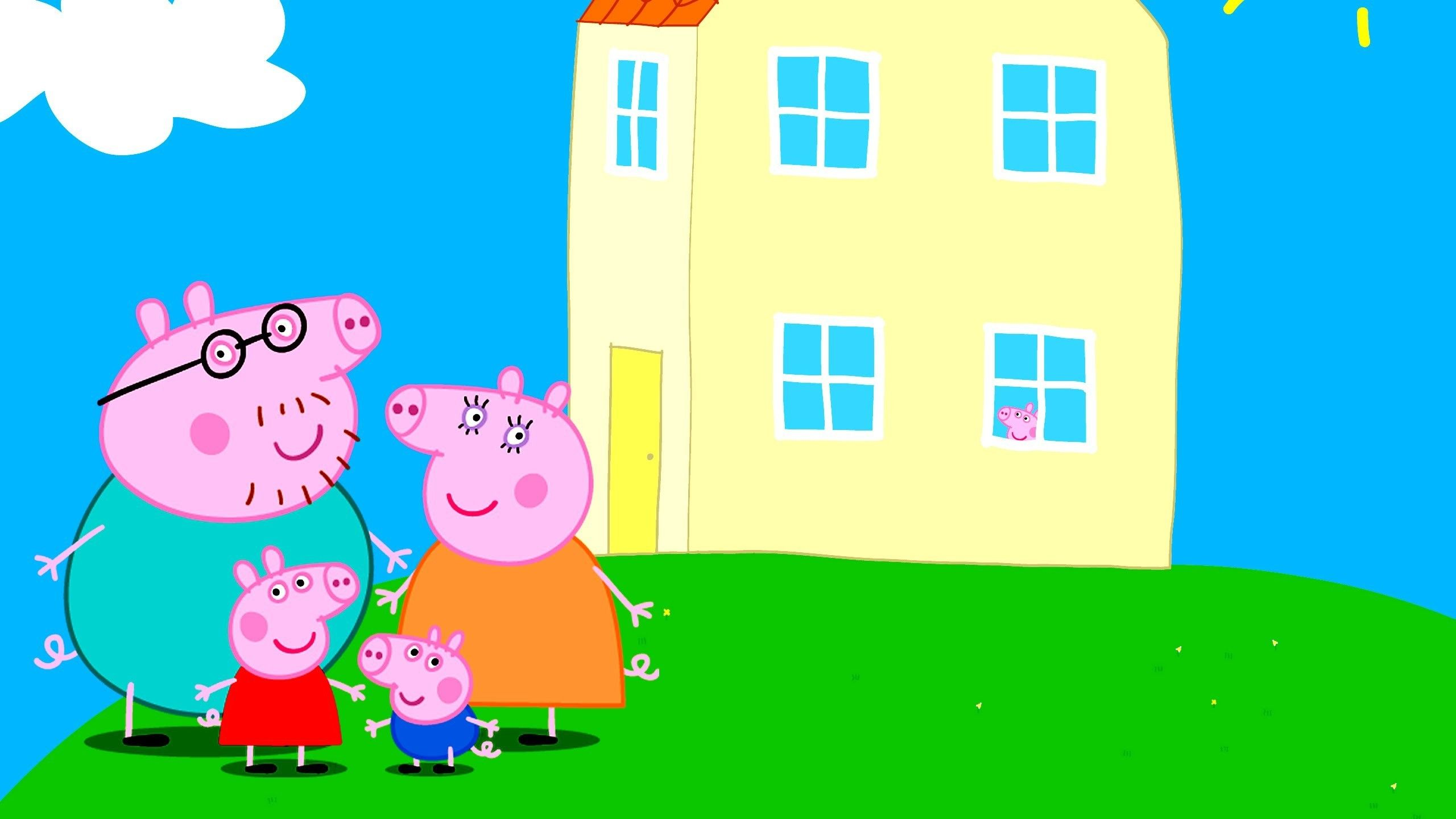 Peppa Pig Backgrounds 96 Wallpapers HD Wallpapers in 2021 2560x1440