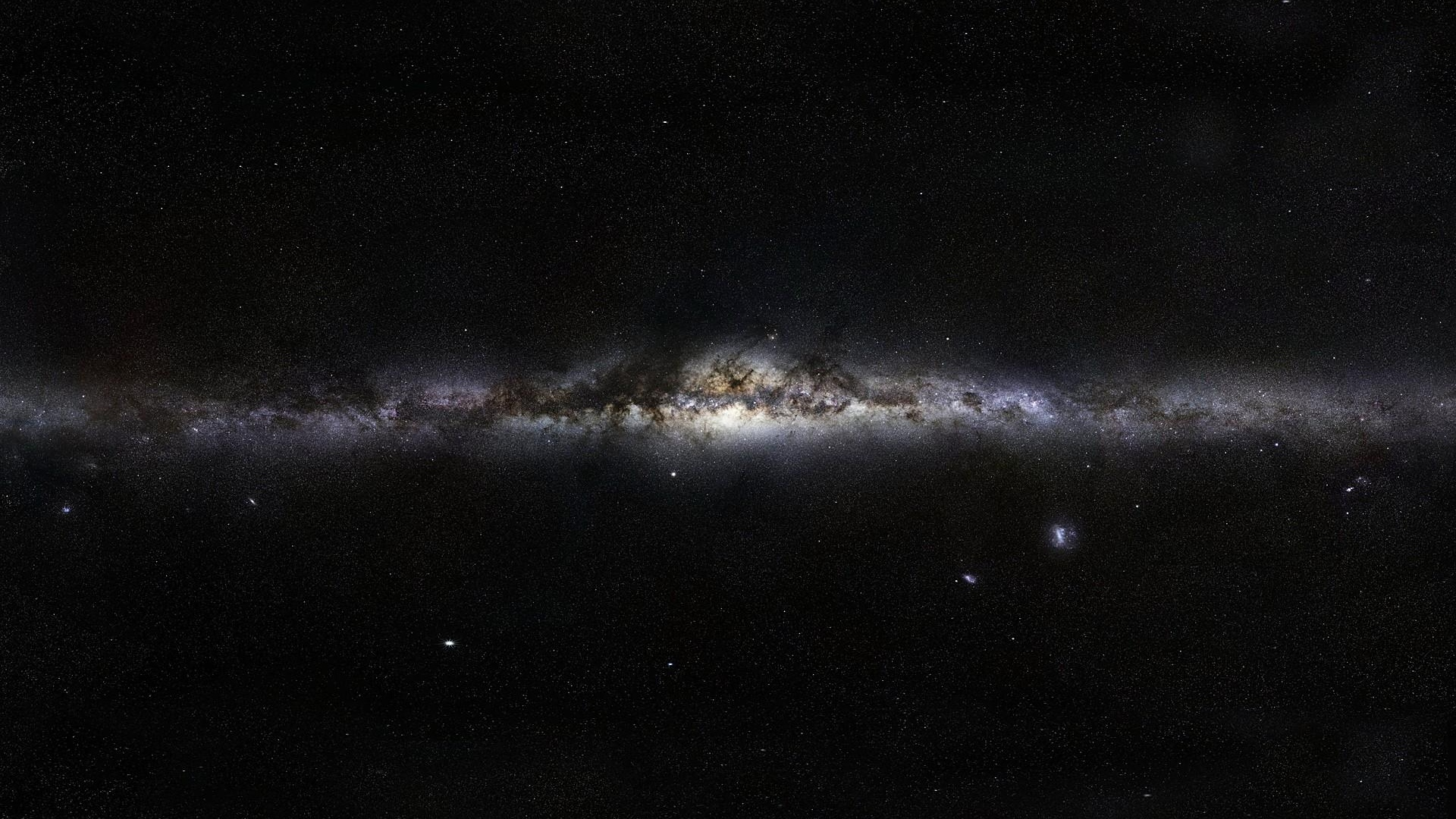 Dark Milky Way Galaxy Line Of Stars Wallpaper WallpapersByte 1920x1080