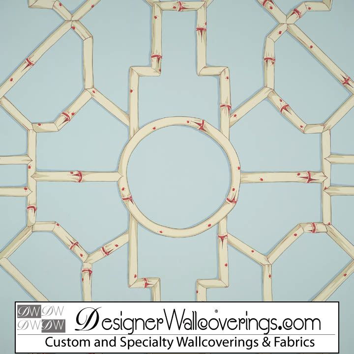 Regal Bamboo Lattice Trellis Wallpaper [PAL 42097] Designer 720x721