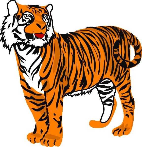 Tiger Clip Art at Clkercom   vector clip art online royalty 576x597