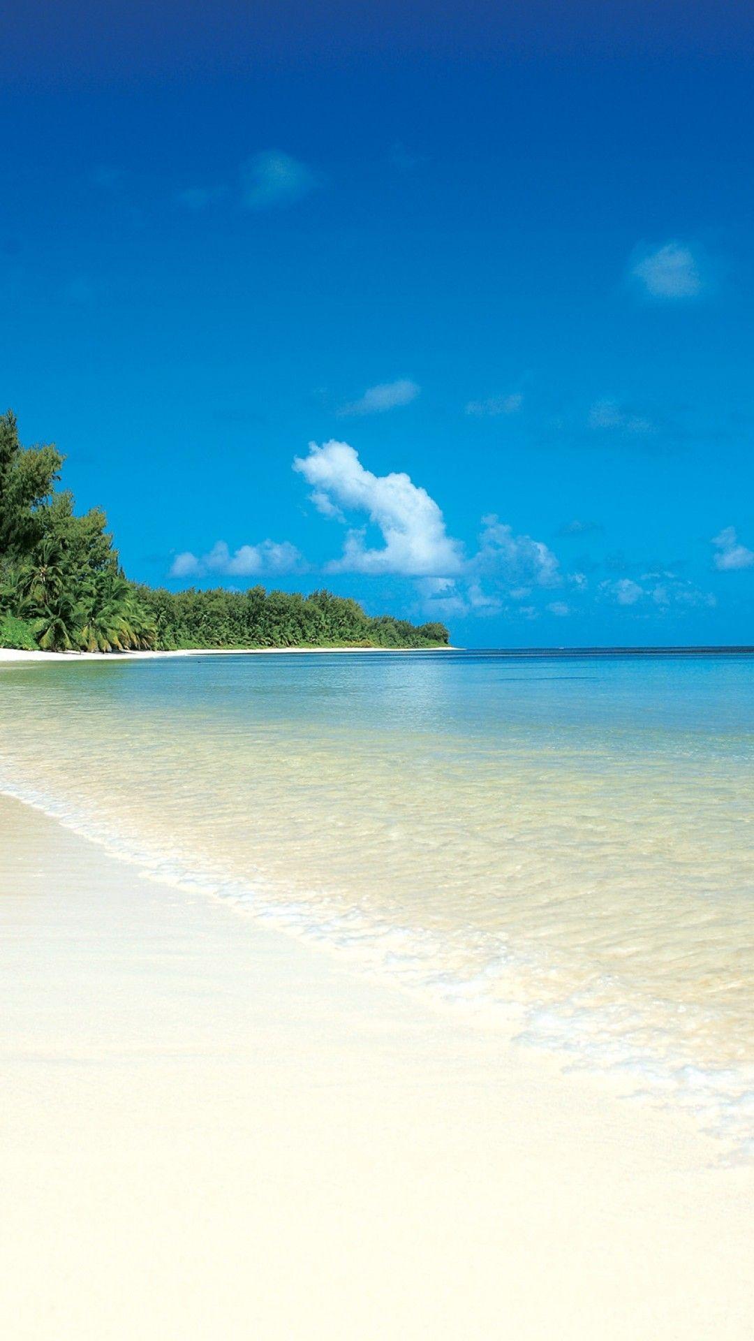White Sand Tropical Island Beach Smartphone Wallpaper and 1080x1920