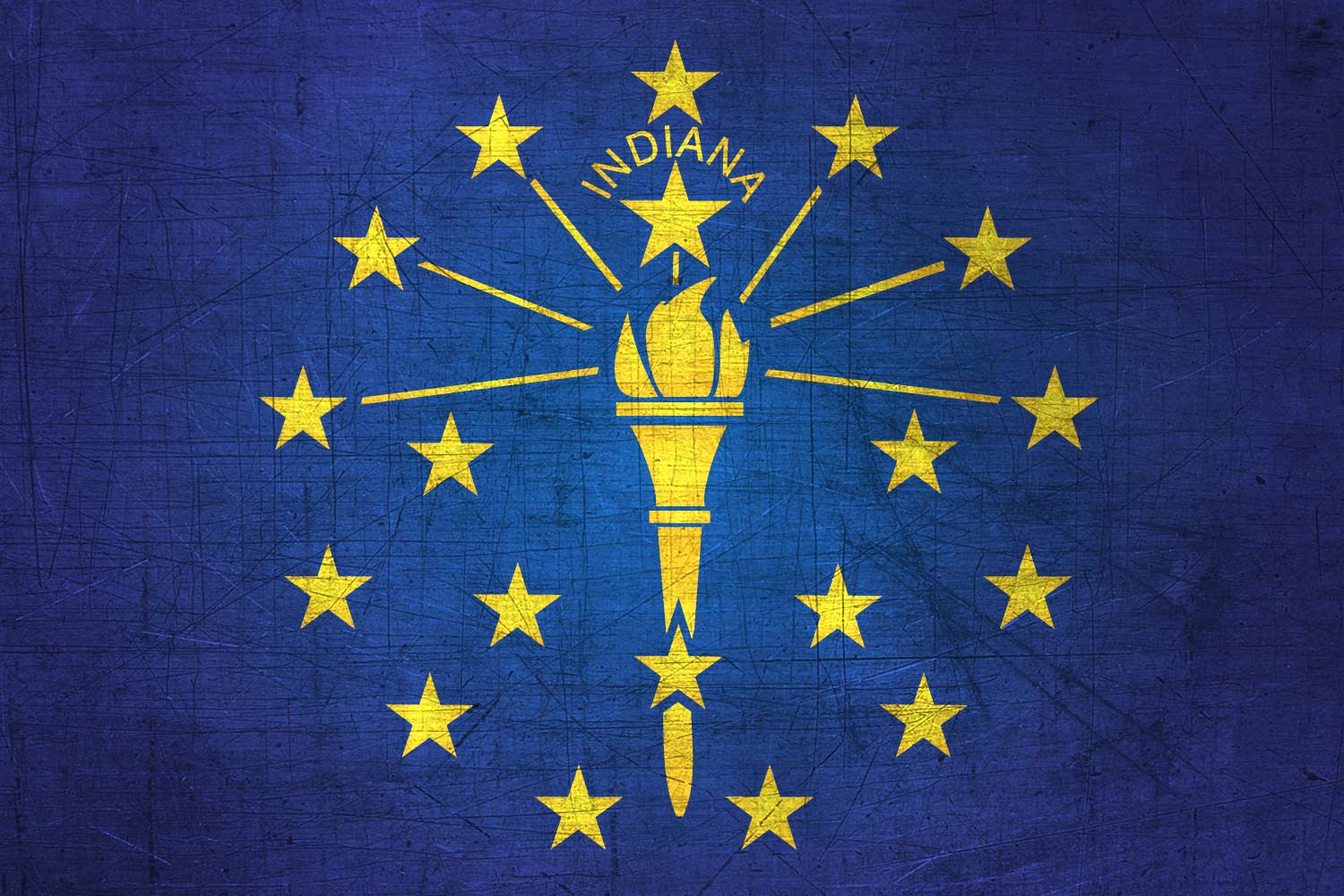 Hoosier Flag Metal Flag of Indiana   Download it for 1500x1000