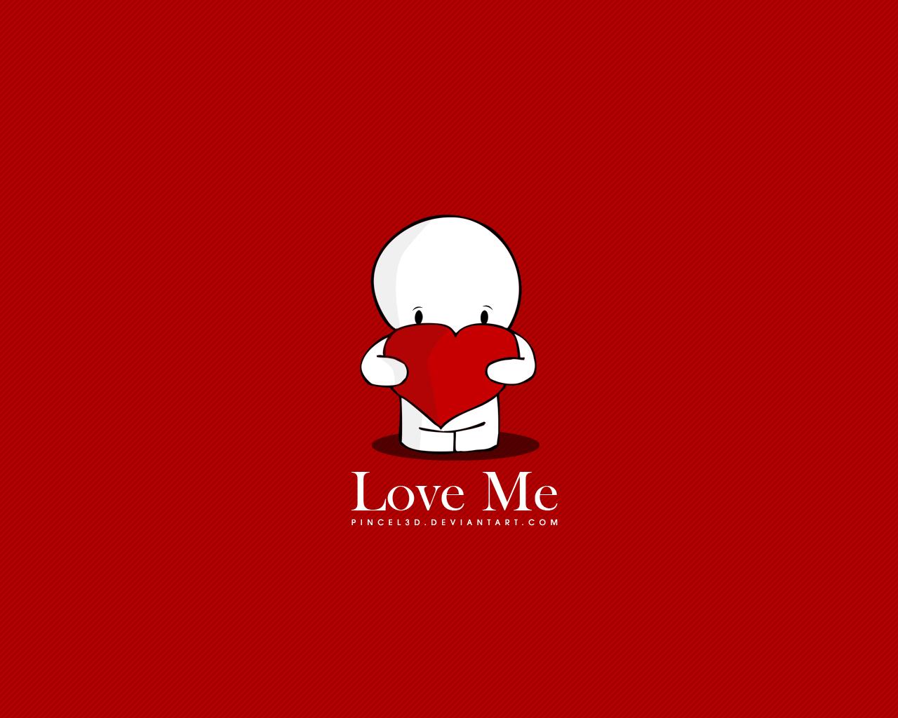 love me wallpaper by pincel3d customization wallpaper vector now 5 1280x1024