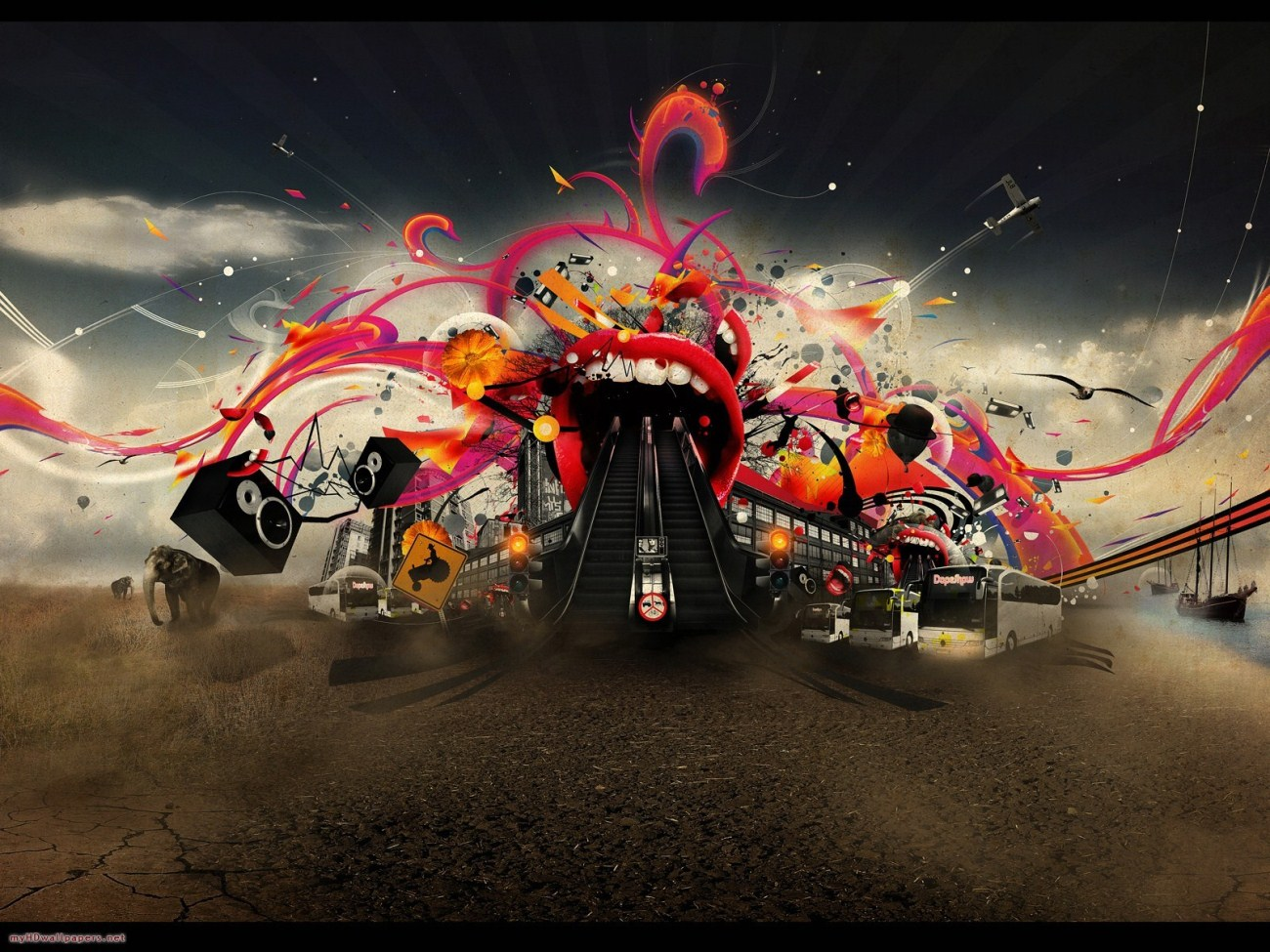 crazy wallpaper art Of Get Rid Of The Boredom With Crazy HD Wallpapers 1300x975
