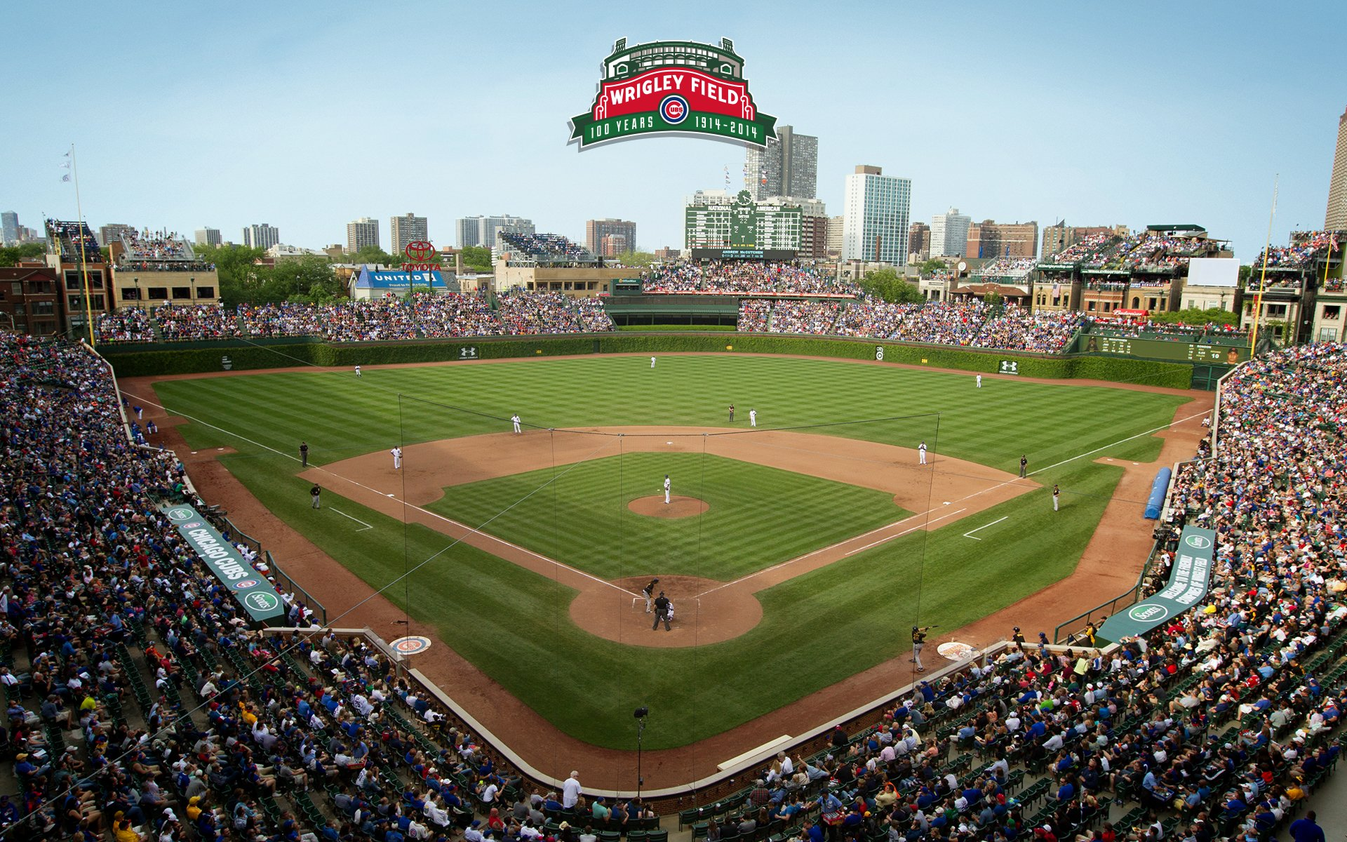 Wrigley Field 100 Chicago Cubs 1920x1200