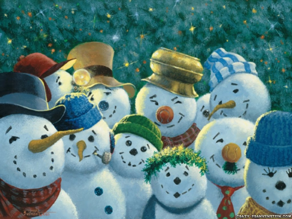 Funny snowman wallpaper wallpapersafari - Free funny christmas desktop wallpaper ...