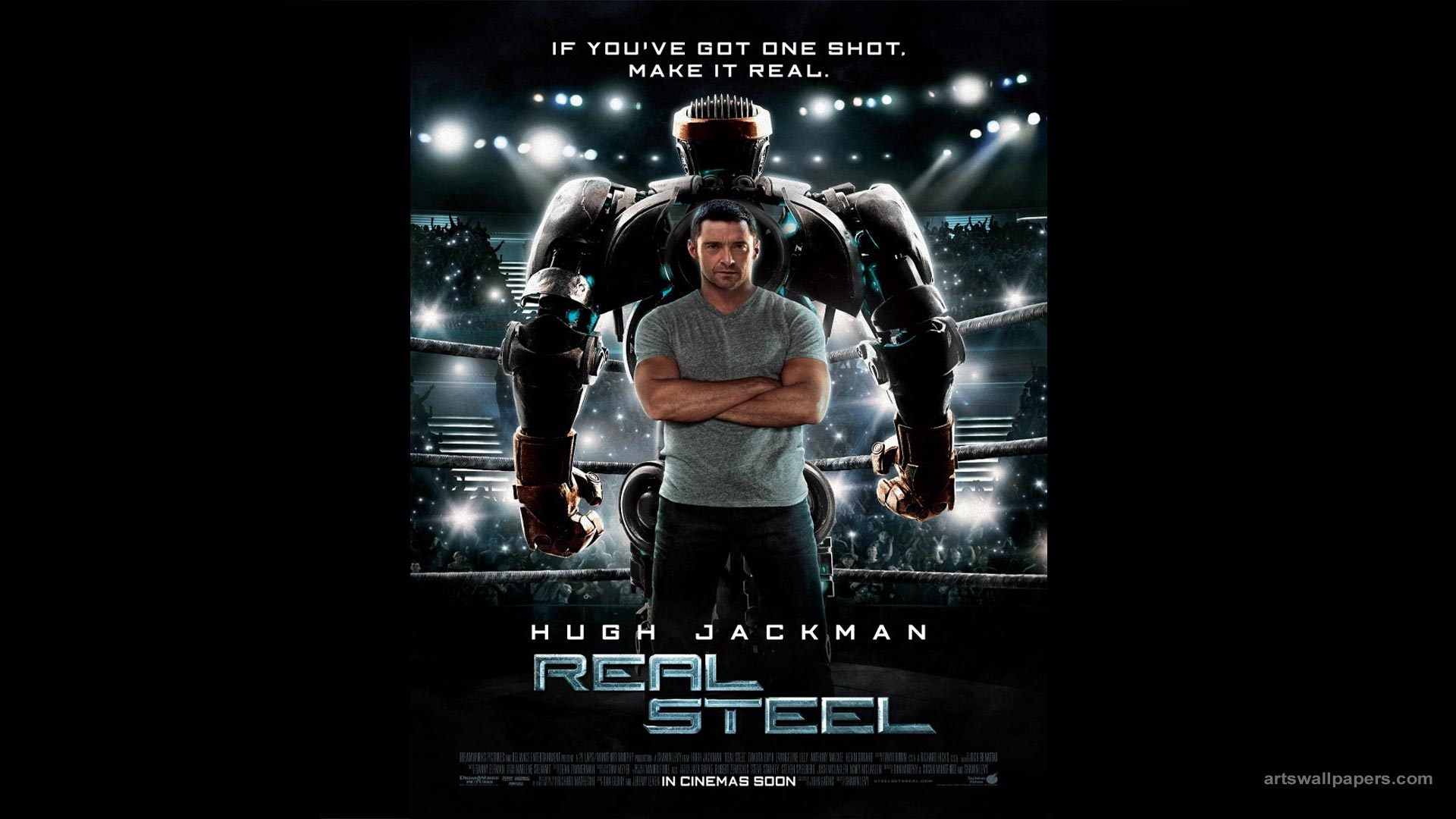 Real Steel Poster Wallpaper Real Steel 2011 Poster Movie Wallpaper 1920x1080