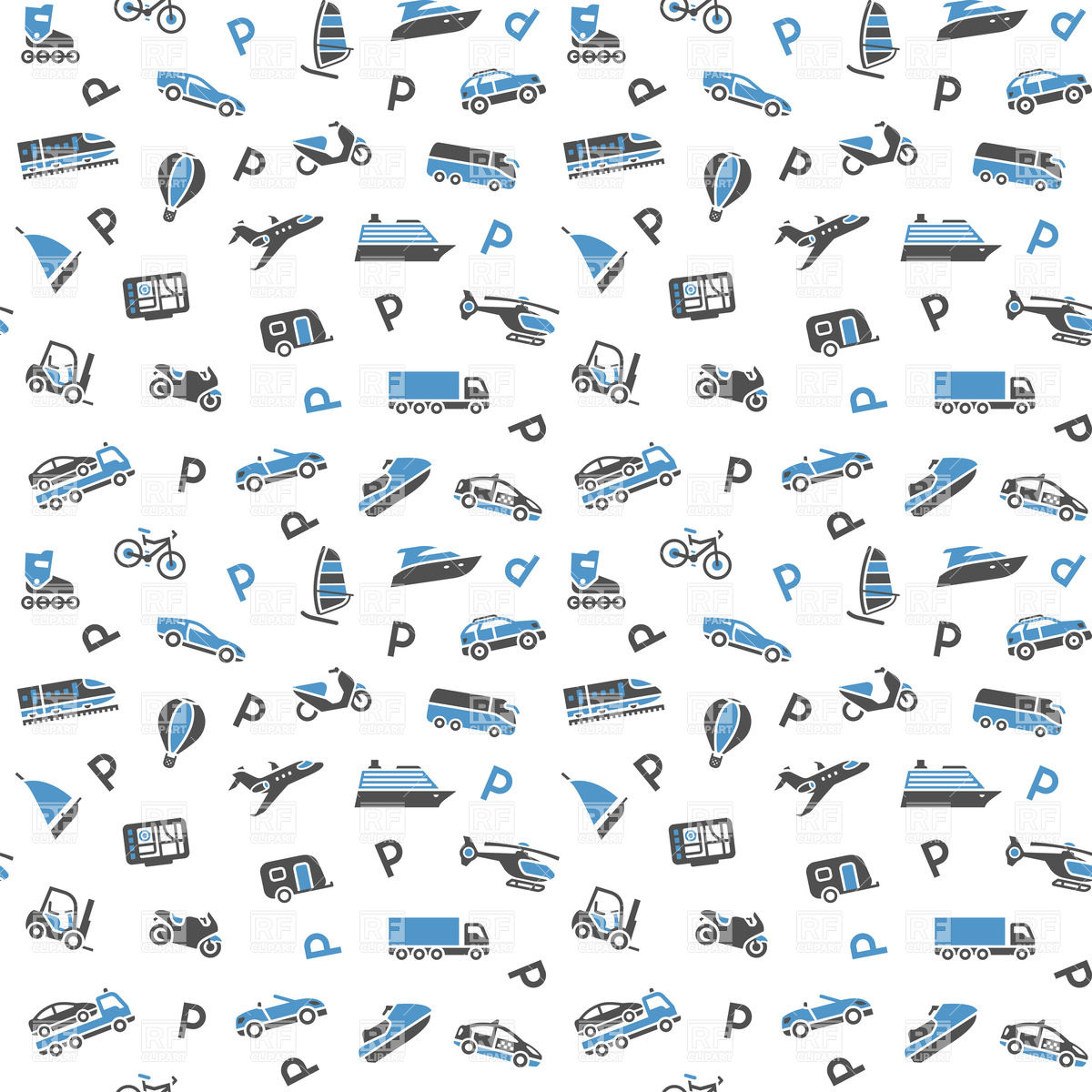 Seamless transport background   wallpaper with icons 18013 download 1200x1200