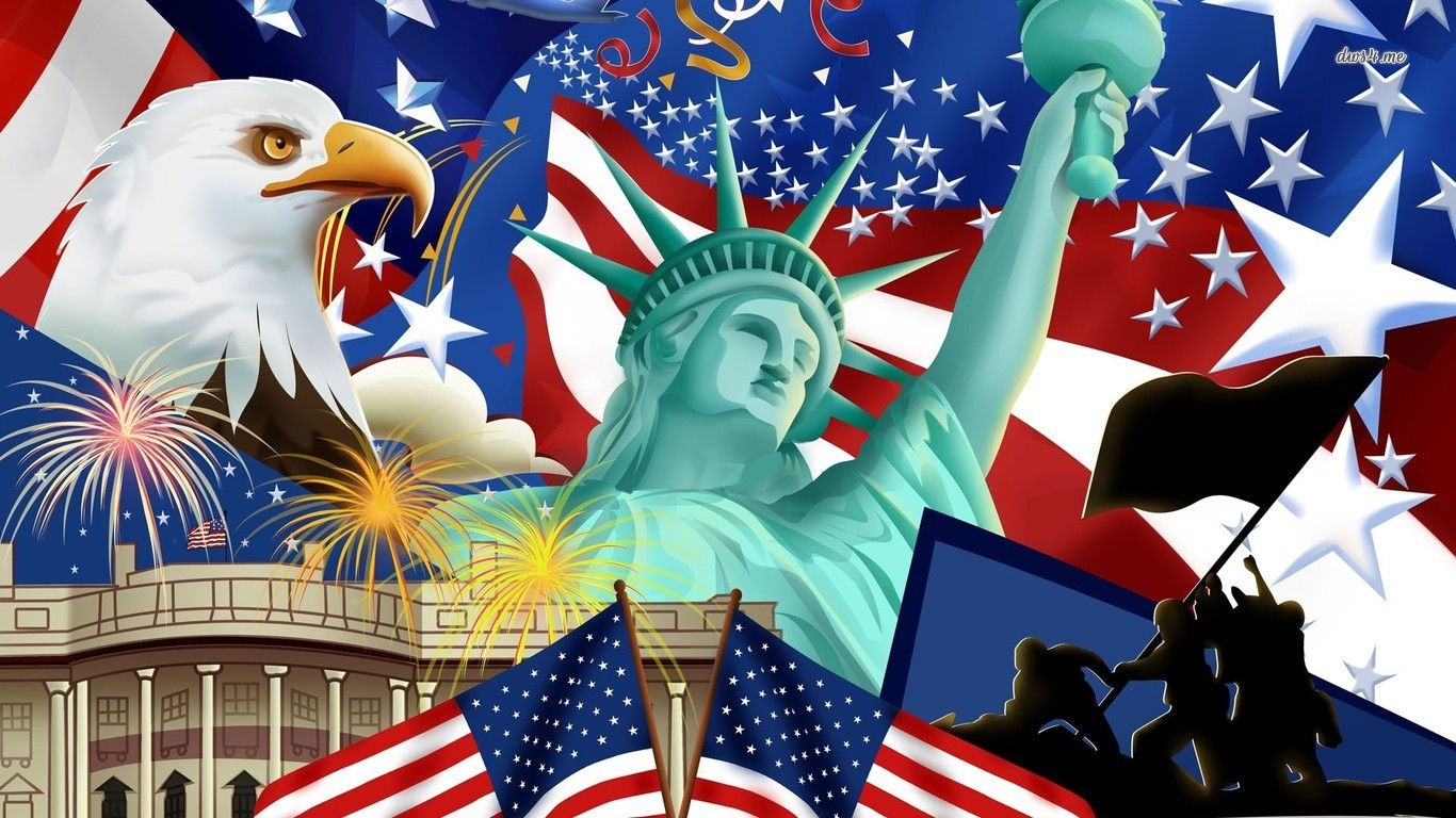 Symbols of America Wallpaper Symbol Of The Usa Eagle American 1366x768