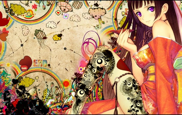 Colorful Anime Girls wallpaper wallpapers   4K Ultra HD Wallpapers 600x380