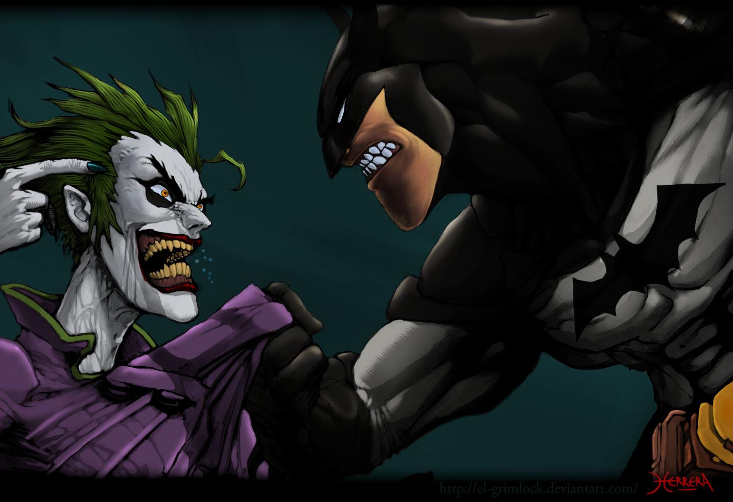 Per visualizzare lo sfondo di Batman vs Joker in dimensioni intere 1435x984