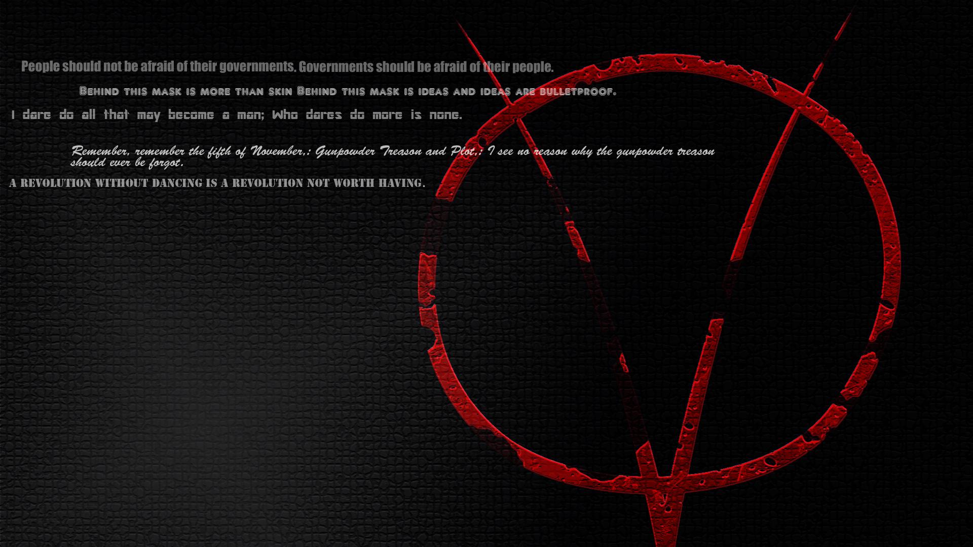 New V for Vendetta background V for Vendetta wallpapers 1920x1080