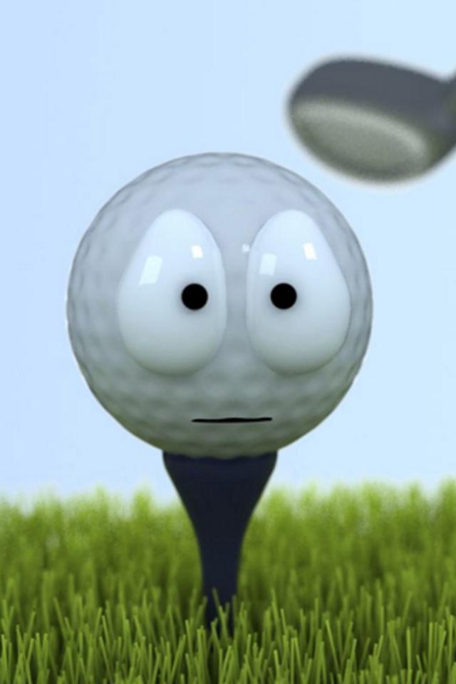 Golf Face iPhone Wallpaper HD 640x960