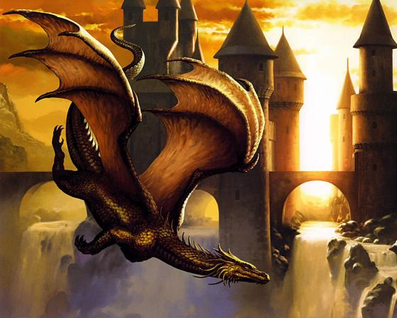 Download Flying Dragon wallpaper 560x448