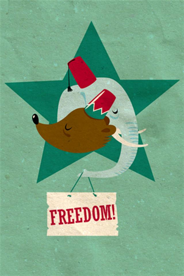 Freedom Animal iPhone Wallpapers iPhone 5s4s3G Wallpapers 640x960