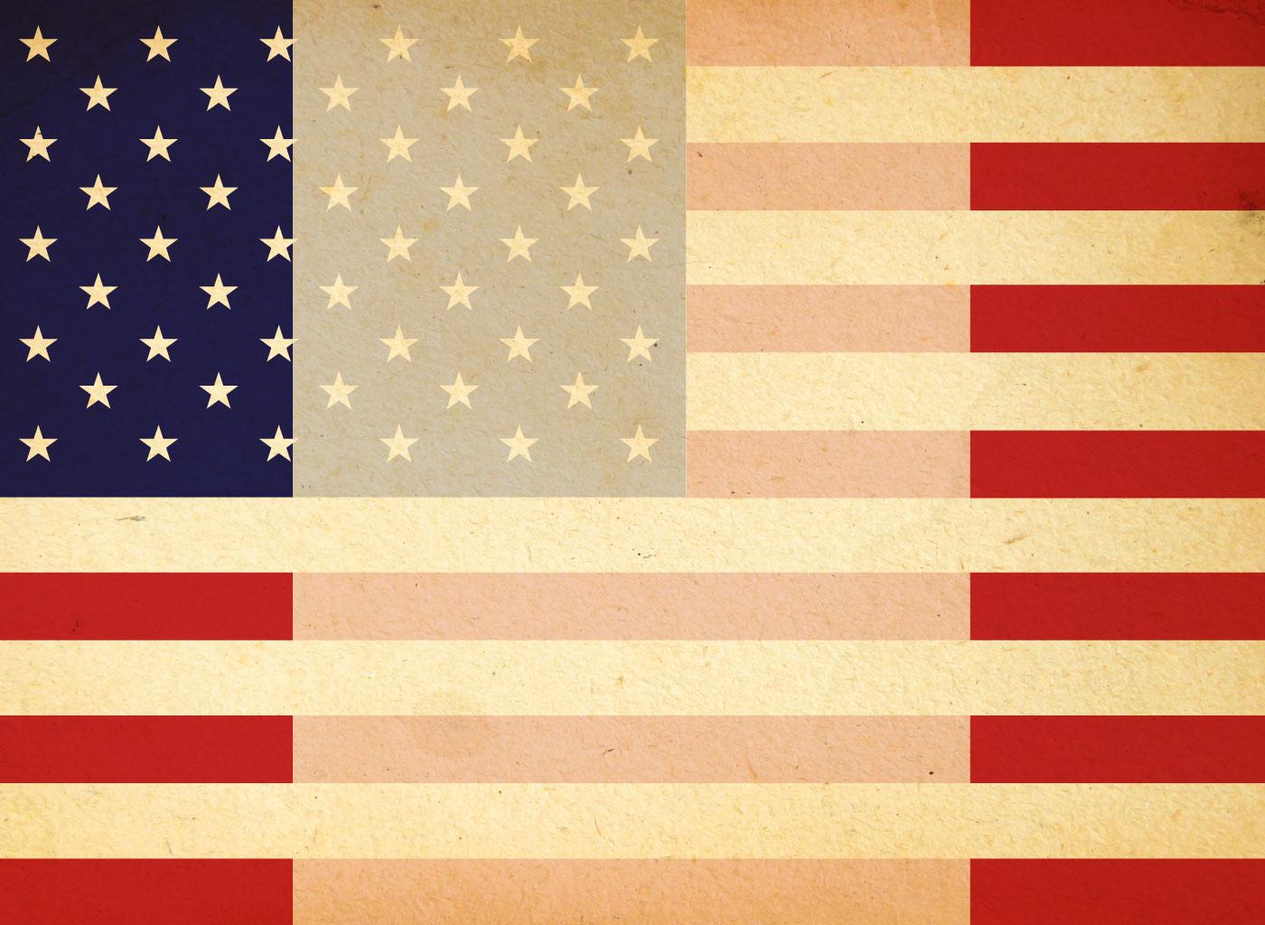 Vintage American Flag 1400x1024