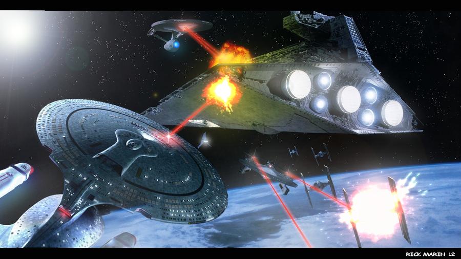 Sci Fi Space War Space battle wars vs trek 900x506