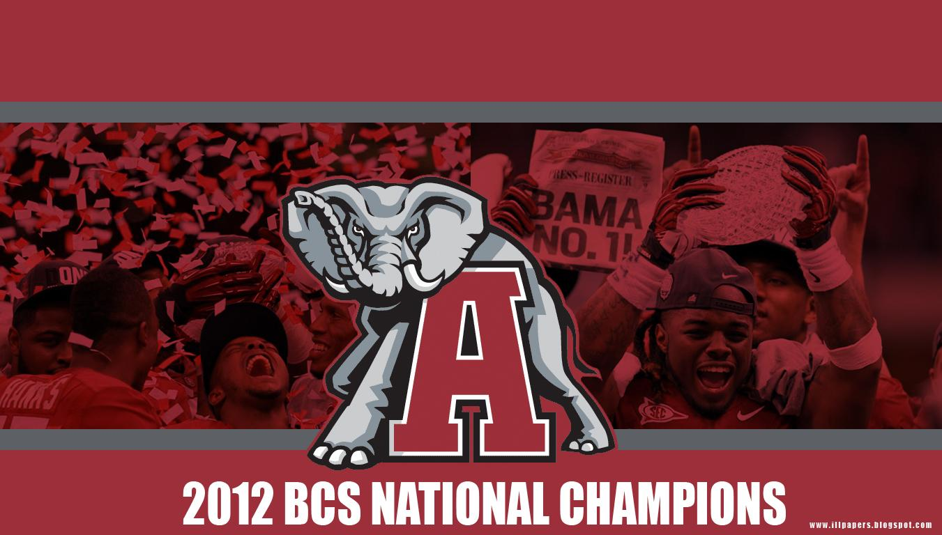 Wallpapers Backgrounds More 2012 Alabama BCS National Champions 1351x768