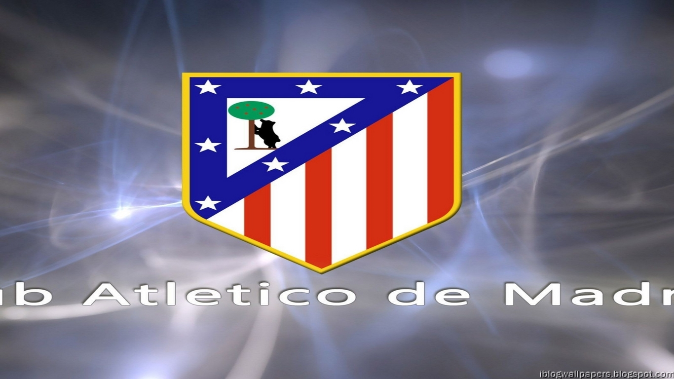 Atletico Madrid Logo Walpapers HD Collection Download Wallpaper 1366x768