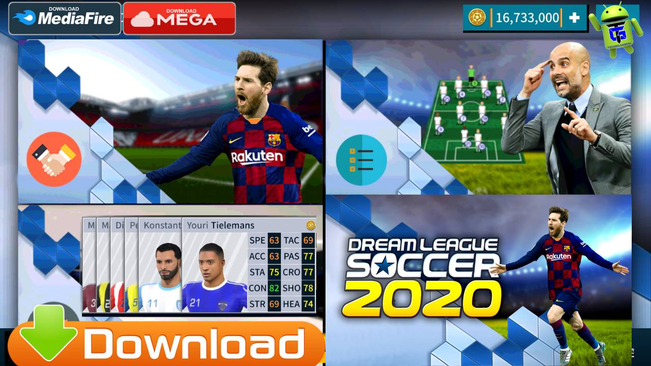 eSports DLS Android APK OBB DATA Download dls 2020 mod apk 1280x720