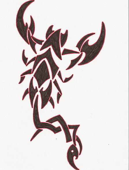 Tribal Scorpion by Sebassie88 447x590