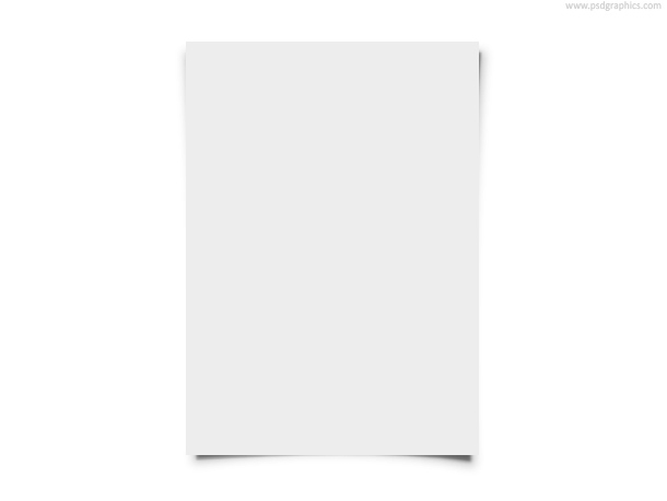 Blank white paper sheet background Download transparent PNG file and 610x458