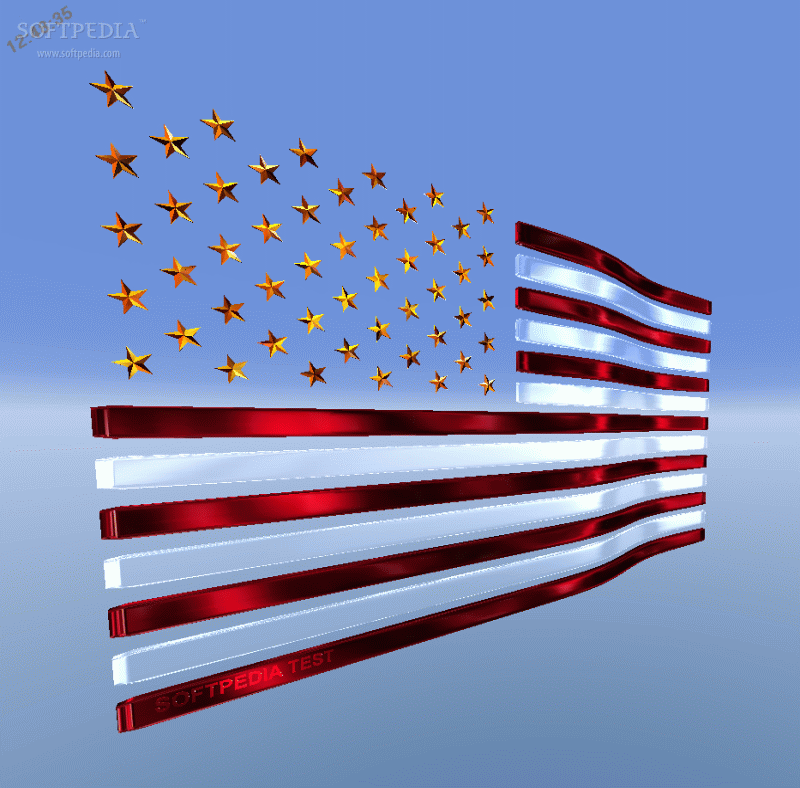 3D USA Flag Screensaver is an interesting screensaver that displays on 800x788