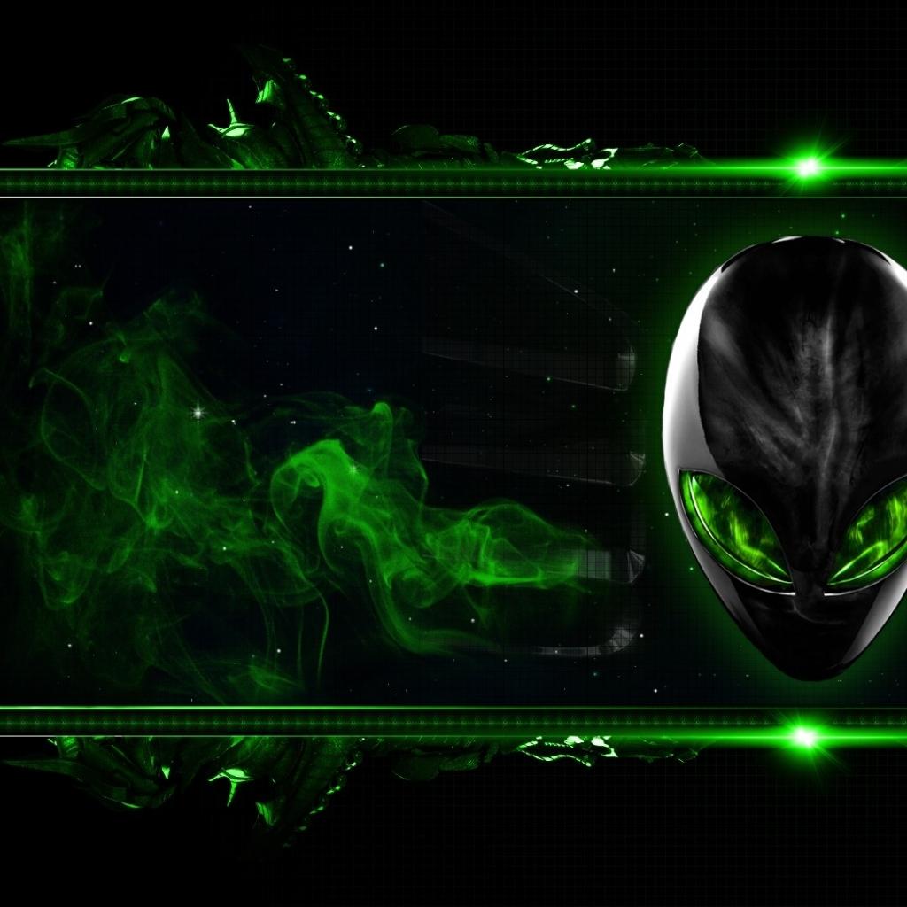 green alienware digital art alien 1920x1080 wallpaper High Resolution 1024x1024