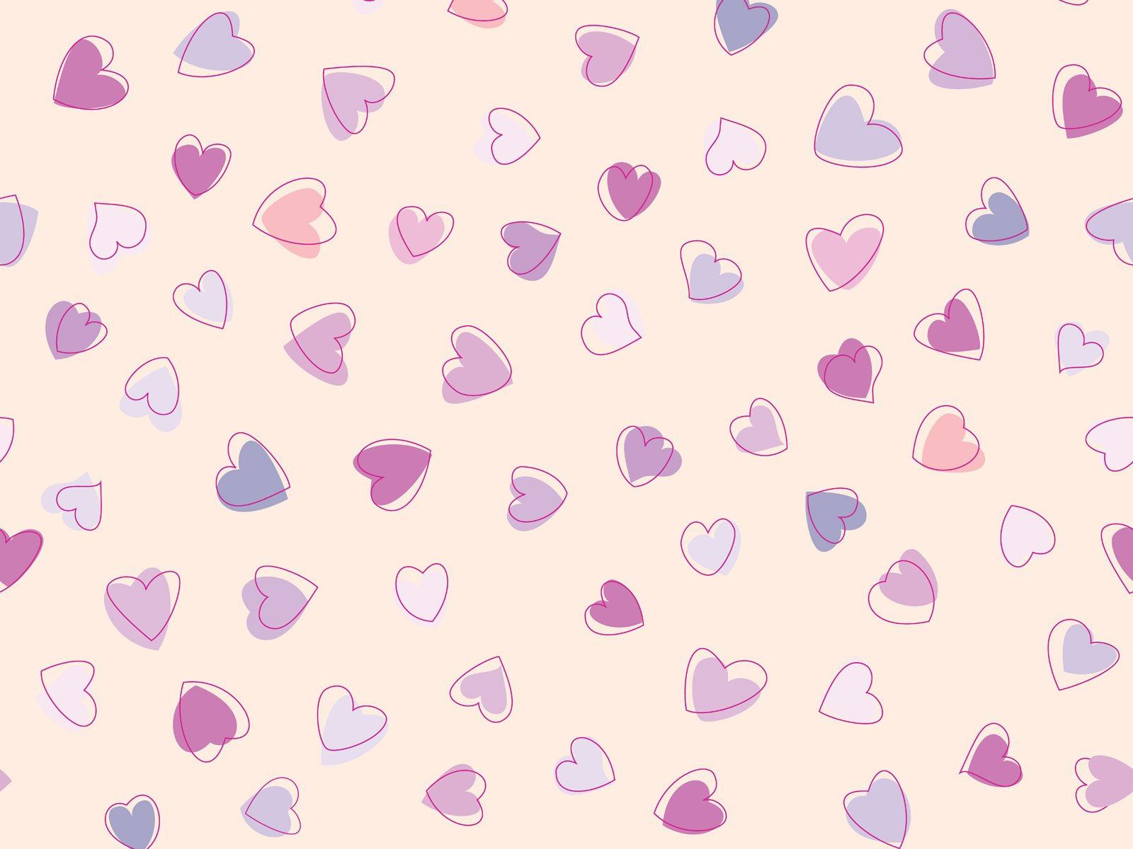 Cute Heart Pattern wallpaper 1600x1200 27954 1600x1200