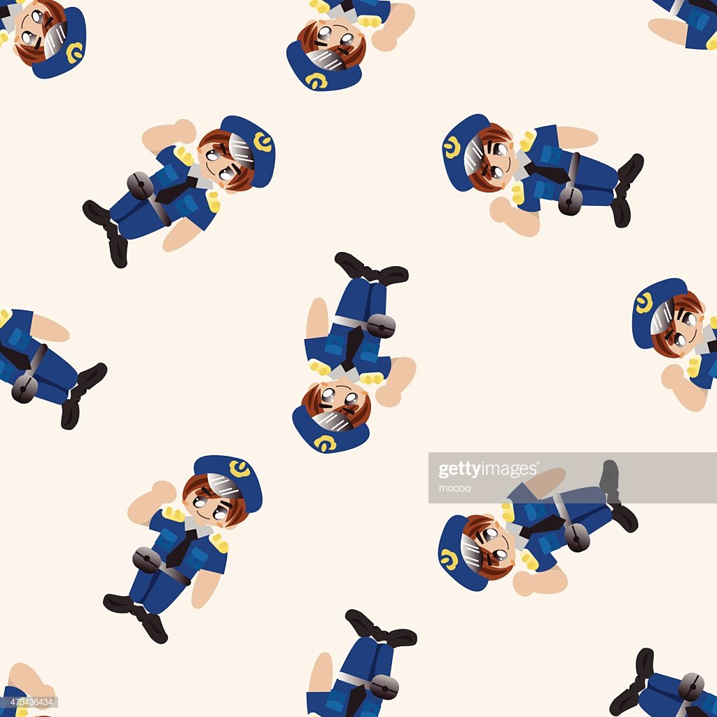 Policeman Cartoon Seamless Pattern Background stock vector   Getty 1024x1024