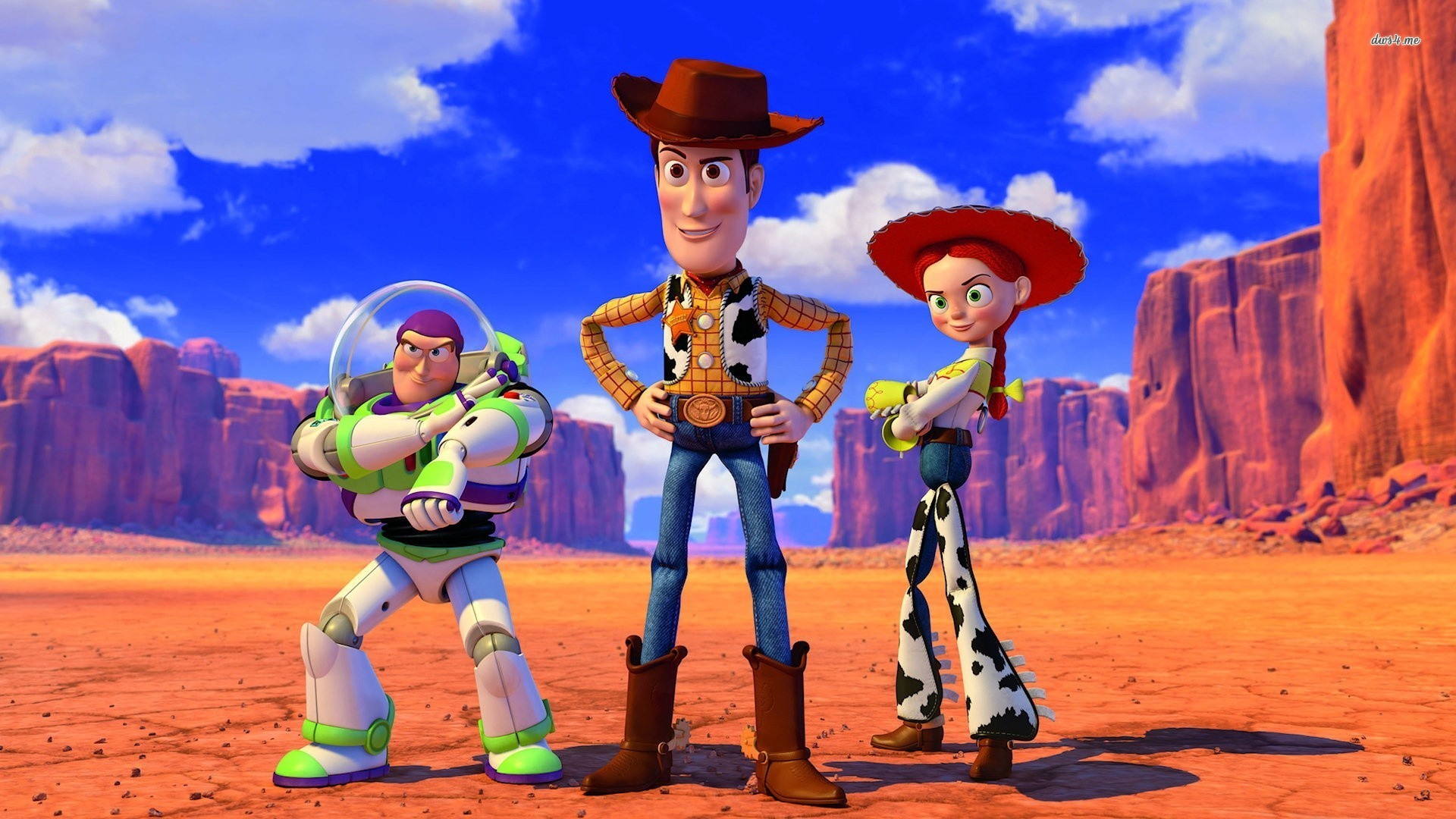 Buzz Lightyear Sheriff Woody Jessie   Toy Story wallpaper   773579 1920x1080