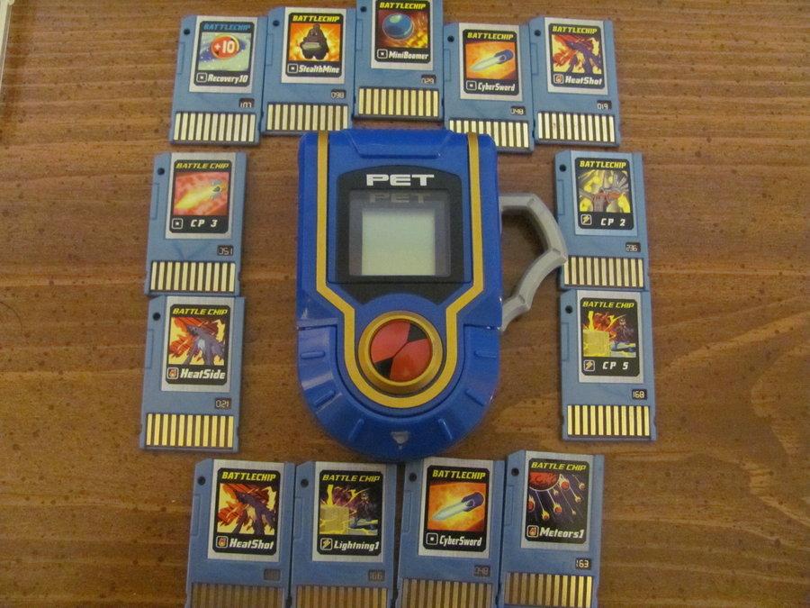 MegaMan PET and Battle Chips by eeeeeeeyyyyyy 900x675