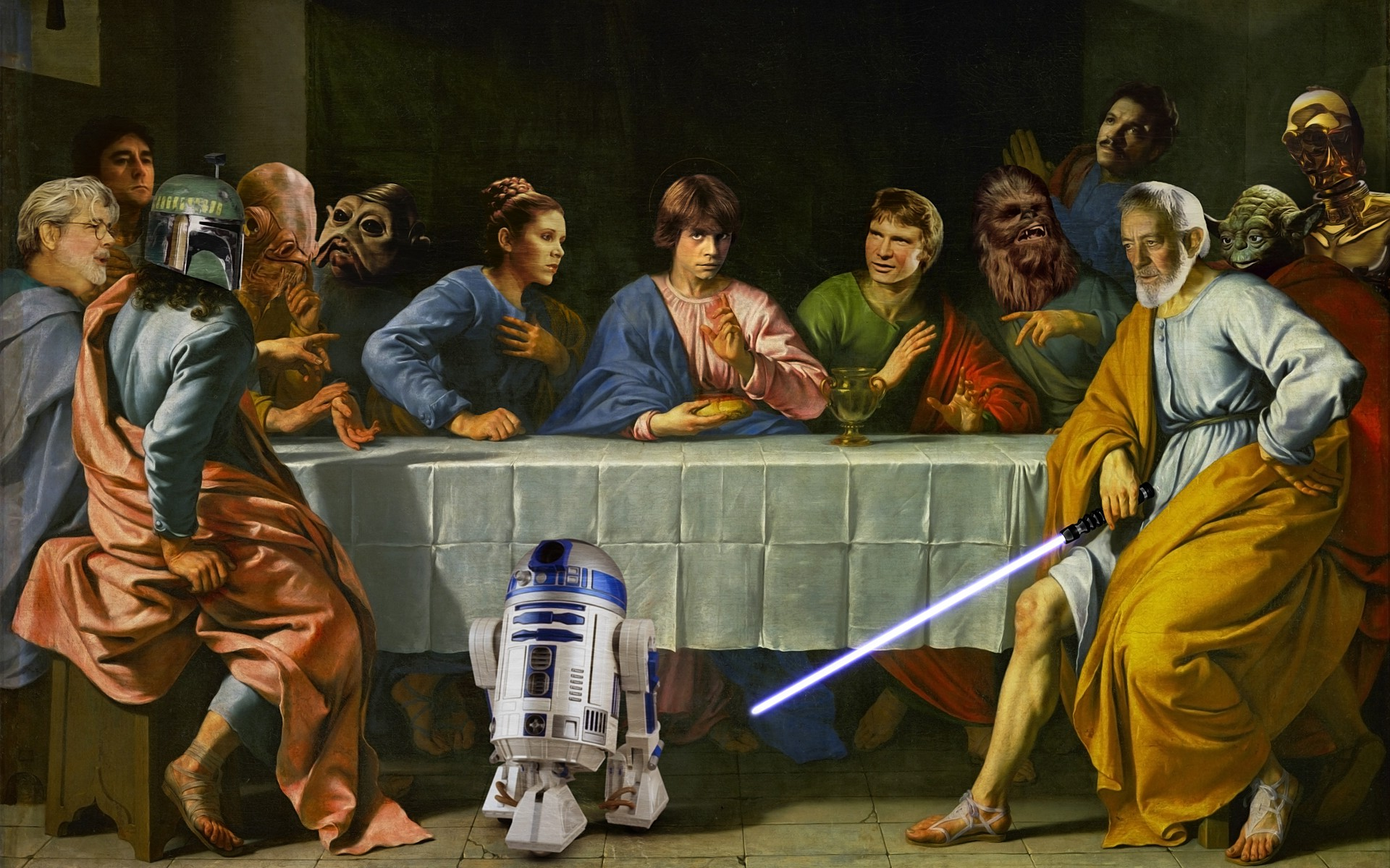 Star Wars Crossover The Last Supper Wallpapers HD 1920x1200