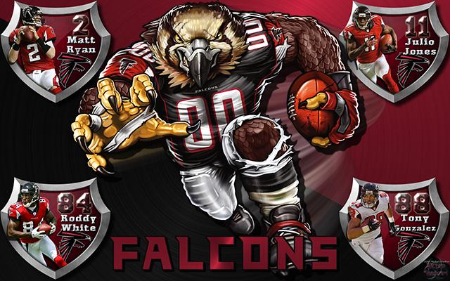 Falcons Crazy Logo Shield Players Wallpaper Download Wallpaper 640x400
