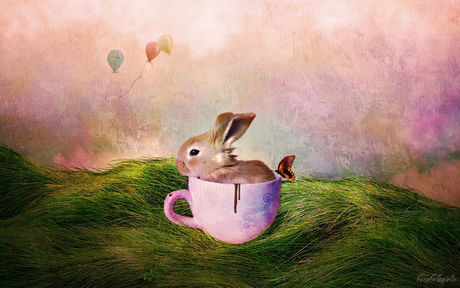 Happy Easter Bunny Desktop Wallpaper 1920x1200