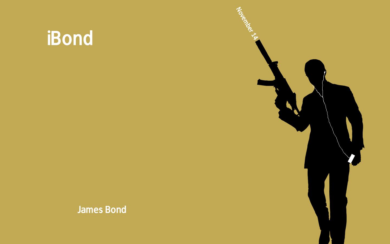 Wallpaper wallpaper James Bond 007 iPod style background 1440x900